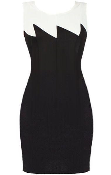 Rip Current Dress | Monochrome Zig-Zag Bodycon Dresses | Rickety Rack $60.00