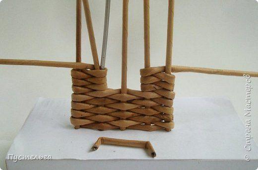 Мастер-класс Поделка изделие Плетение Домик и мельница Трубочки бумажные фото 6