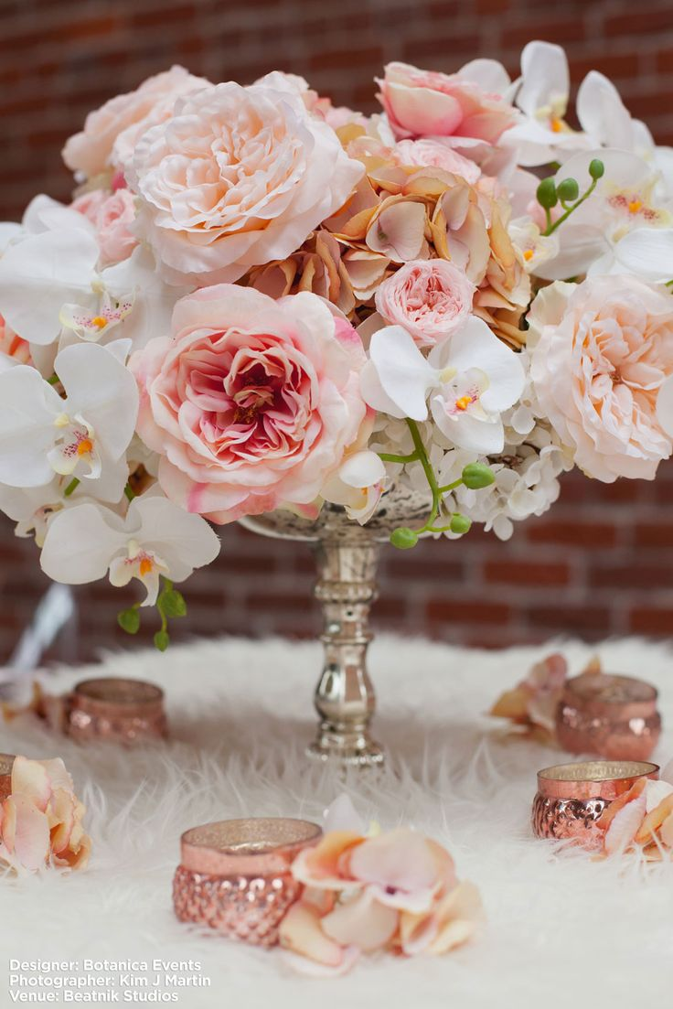 wedding centerpieces fake flowers%0A Can you believe these flower are faux  Plan your glam wedding with touches  of pink