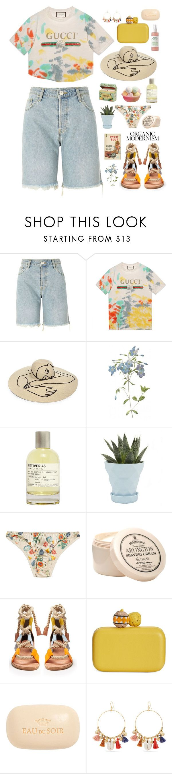 """""""Girls, don't forget your curls And all of your corsets"""" by ginny-mckenzie ❤ liked on Polyvore featuring River Island, Gucci, Eugenia Kim, Le Labo, Chive, STELLA McCARTNEY, D.R. Harris & Co Ltd., Pierre Hardy, Sam Edelman and Sisley"""