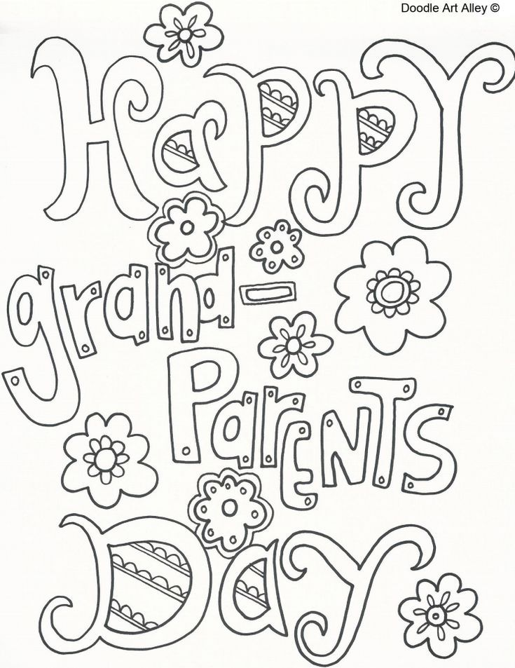 Find Free Printable Grandparents Day Coloring Pages