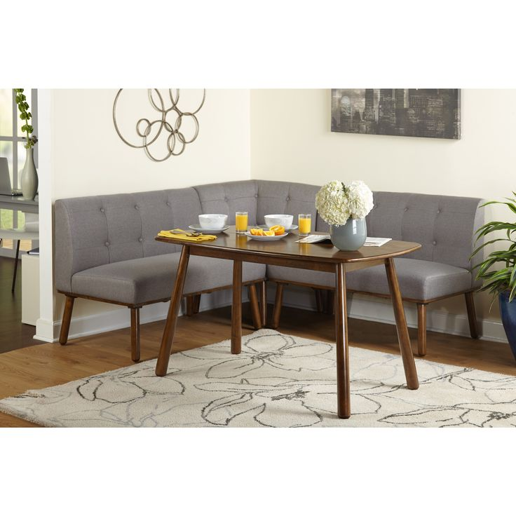 Simple Living 4 piece Playmate Nook Dining Set (4 piece Dining Set, Grey)