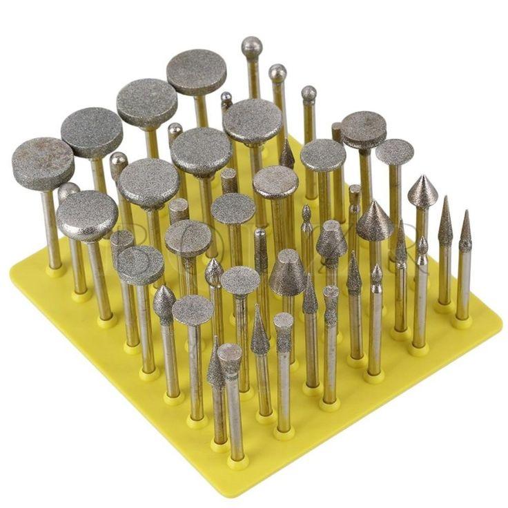 ของใหม่ราคาดี<SP>เพชรเสี้ยนเศษเจาะ ชุด 50 เงิน++เพชรเสี้ยนเศษเจาะ ชุด 50 เงิน This master diamond bur set allows you to shape, grind and finish with precision. Suitable for use in grind the edge of glass, tile, marble, jewelry or rock. Grinder Head ...++