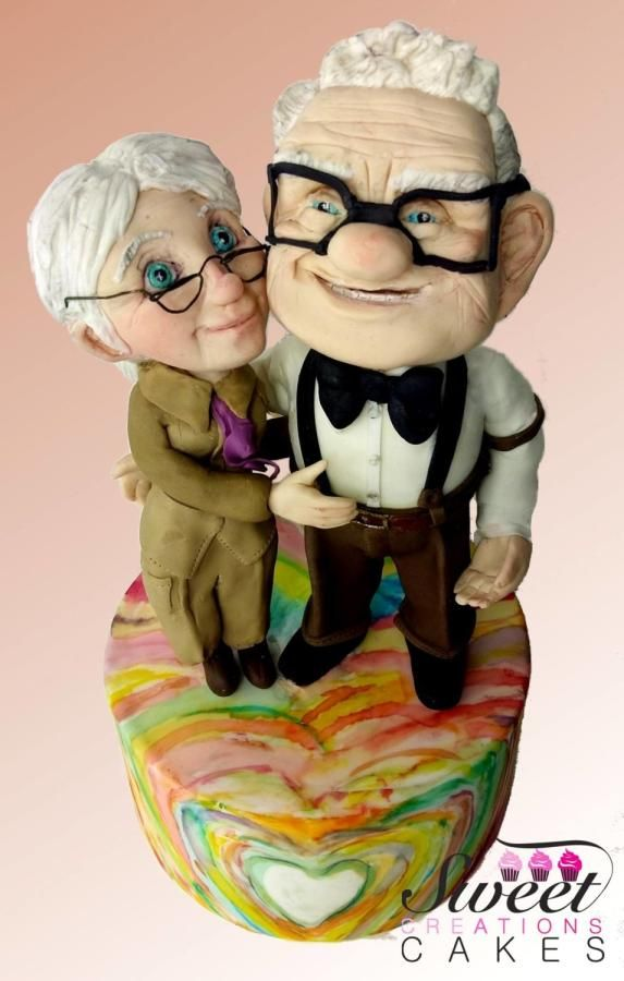 Carl and Ellie figures: Up by Sweet Creations Cakes