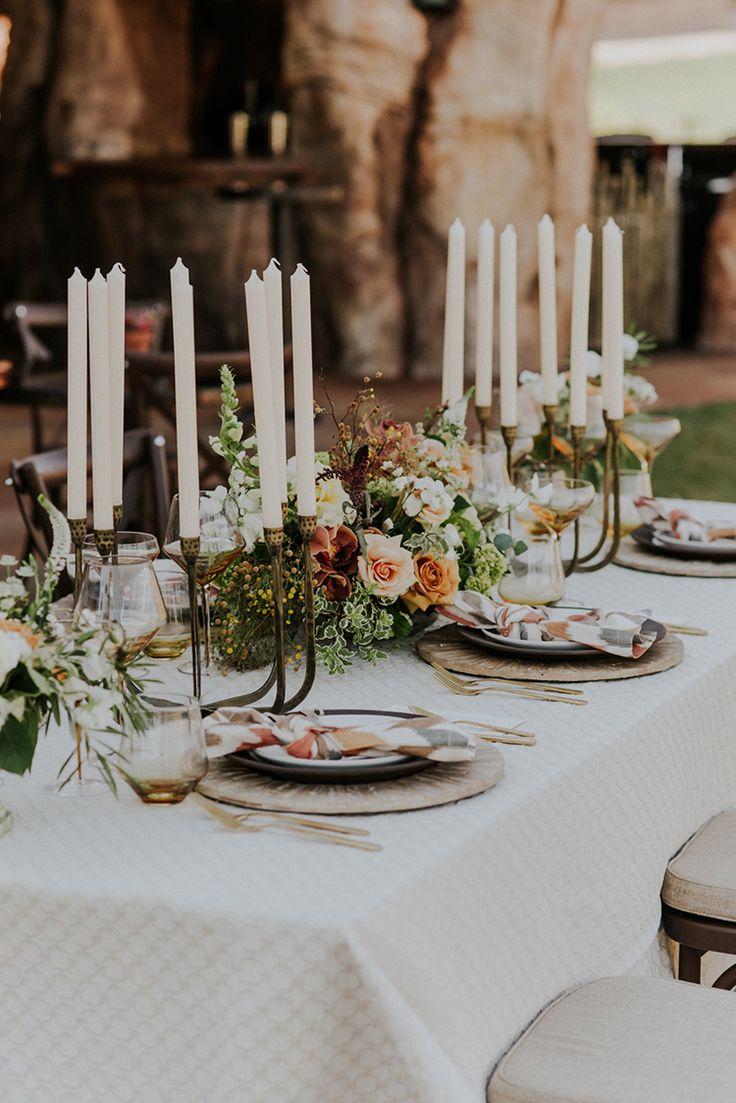 wedding tablescapes - photo by Shelly Anderson Photography http://ruffledblog.com/san-diego-safari-park-glamping-wedding-editorial