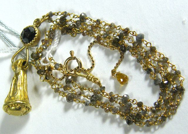 DIAMOND SOLID GOLD NECKLACE DESIGNER PC  13.50  CTS  NATURAL    GEMSTONE NECKLACE FROM GEMROCKAUCTIONS.COM