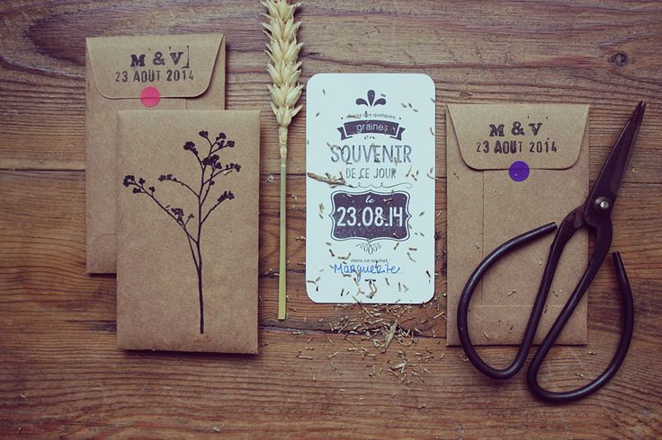 Enveloppe graines de fleurs semer petit cadeau pour for Petit sachet kraft mariage