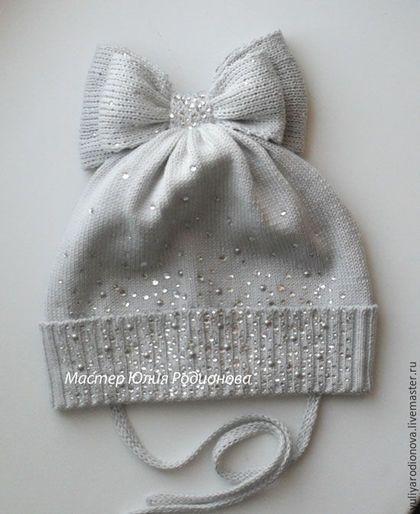 """Шапки и шарфы ручной работы. Заказать Вязаная шапочка для девочки """"Мальвинка""""…"""