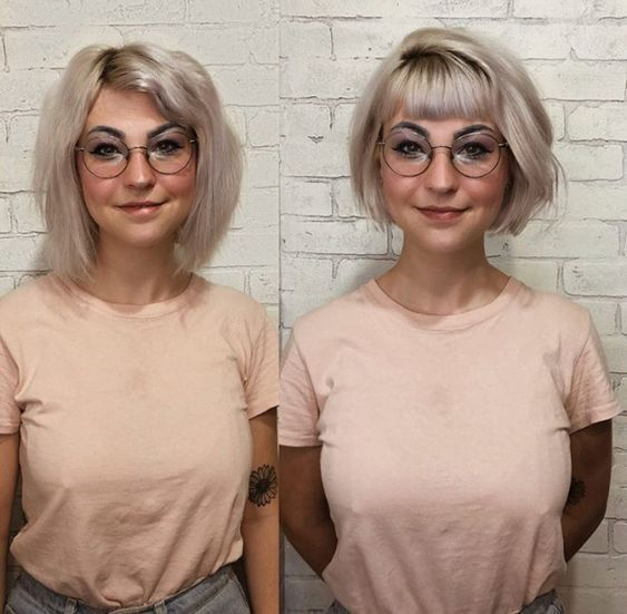 27+ Best Bob Haircuts with Bangs for 2019 – #Bangs…