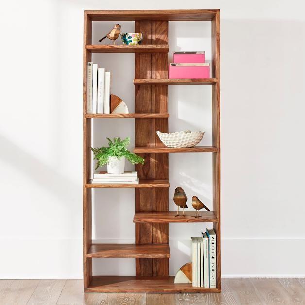 Atlas Sheesham Bookcase Petites Creations En Bois Projets De Bricolage Bois Rangement Decoratif