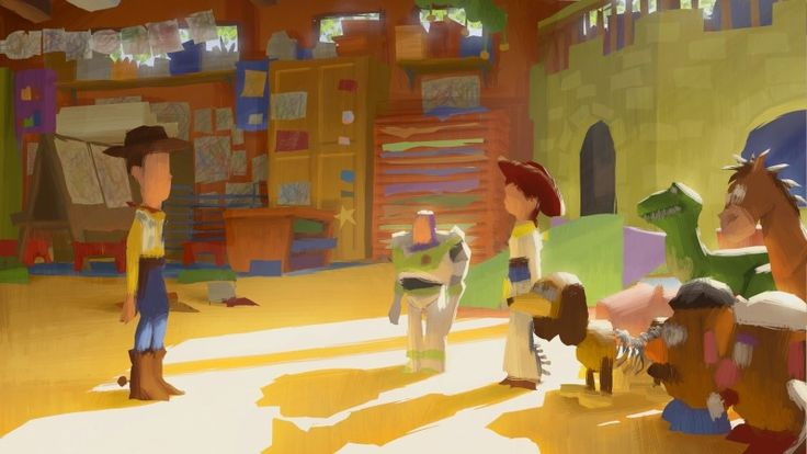 6 Images from the TOY STORY 3 Color Script — GeekTyrant
