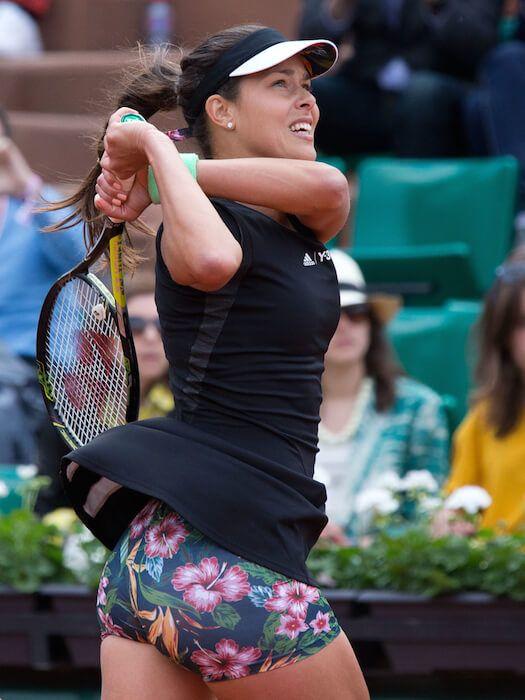 Ana Ivanovic. I'd like to smell the flowers!