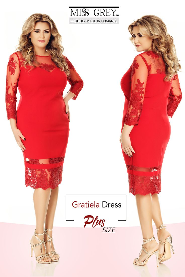 With sophisticated lace insertions, our red Gratiela Plus Size dress will definitely make you stand out from the crowd.