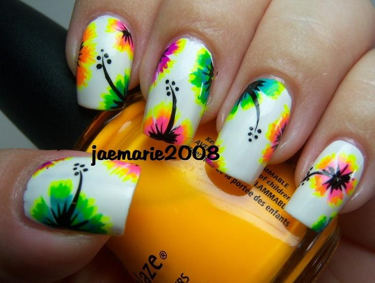 92 best Tropical nail art images on Pinterest | Fingernail designs ...