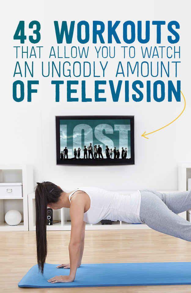 Puedes hacer ejercicios mientras miras la televisión.