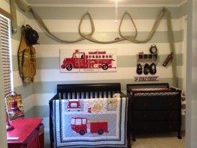 Firefighter nursery with hose