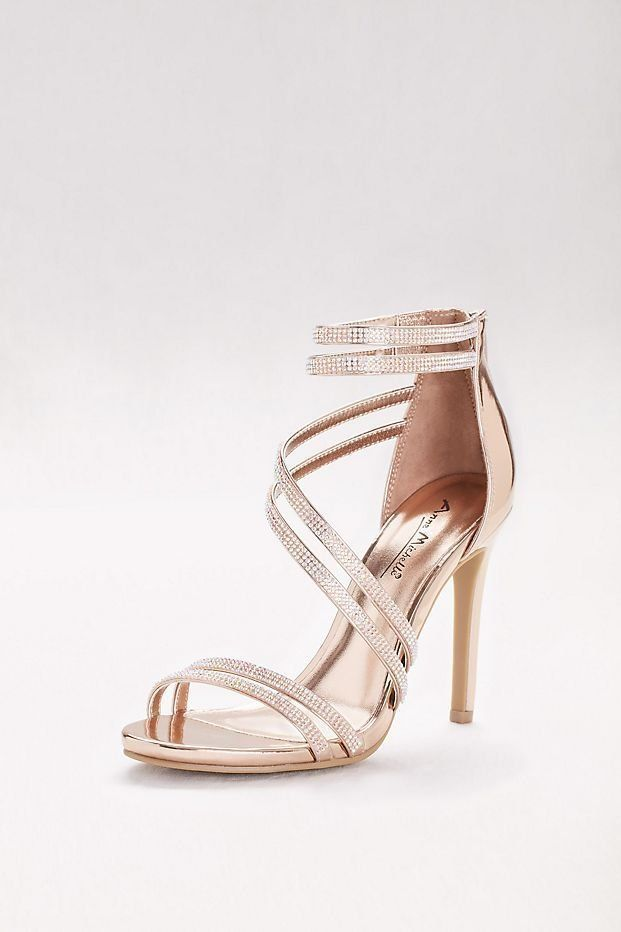 Crystal-Embellished Double-Strap Stiletto Sandals  64b552ee377b