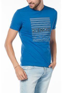 Iceberg Erkek Mavi T-shirt https://modasto.com/iceberg/erkek-ust-giyim-t-shirt/br1960ct88