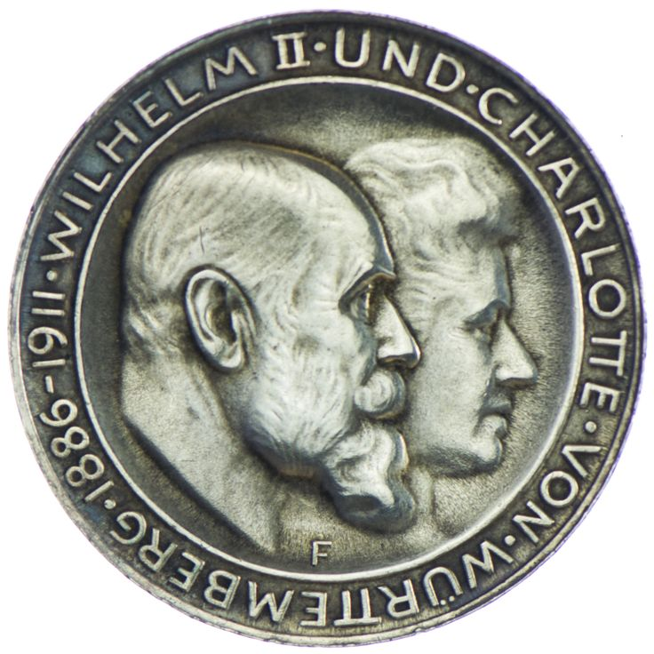 Wurttemberg Wilhelm 1891 1918 3 Mark 1911 F Silber Zur