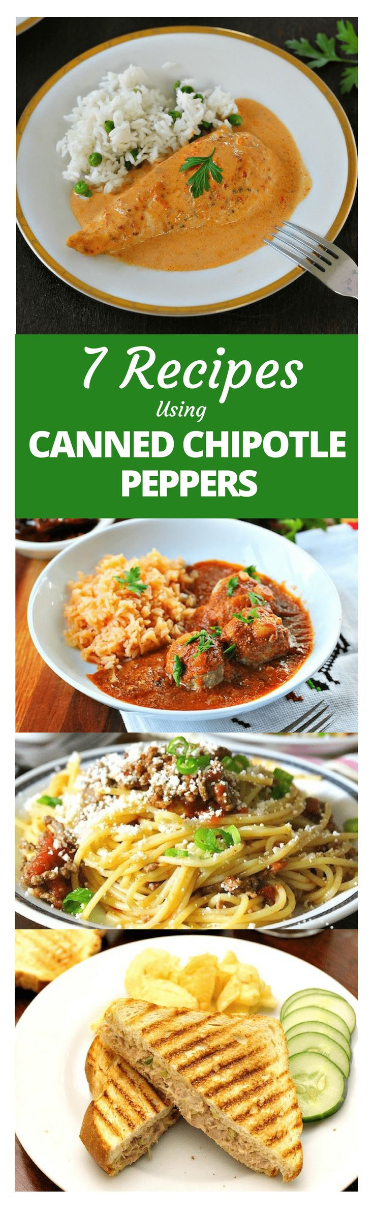 7 Recipes Using Canned Chipotle peppers │Canned chipotle peppers are a common staple in Mexican pantries, as we like to have them handy in case we're making a dish that calls for chipotle peppers. They add a touch of spice and a rich, smoky flavor to many meals #mexicanrecipes #mexicancuisine #mexicanfood #mexicoinmykitchen