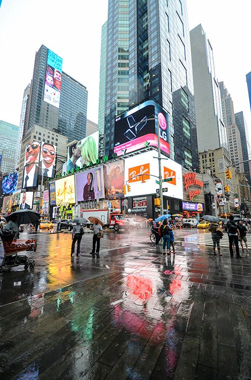 NYC Wet Times Square - By Anthony A