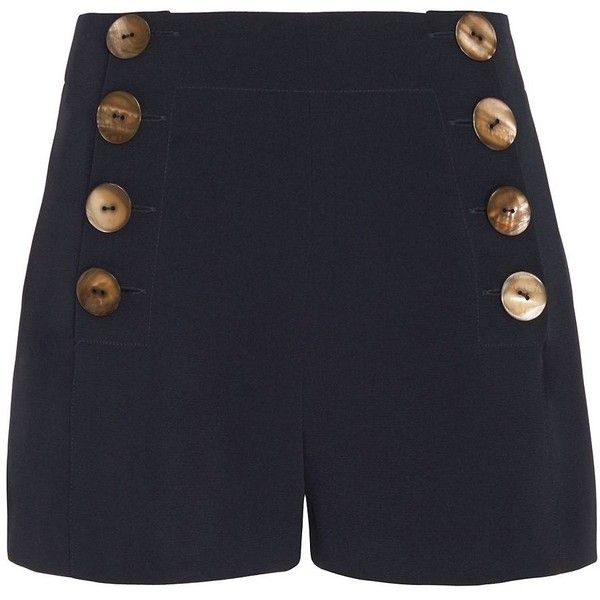 Derek Lam 10 Crosby Women's Sailor Shorts ($298) ❤ liked on Polyvore featuring shorts, navy, nautical shorts, short shorts, navy shorts, navy blue shorts and 10 crosby derek lam