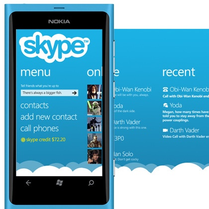 My Skype concept for WP. Panorama by Maria Nasioti