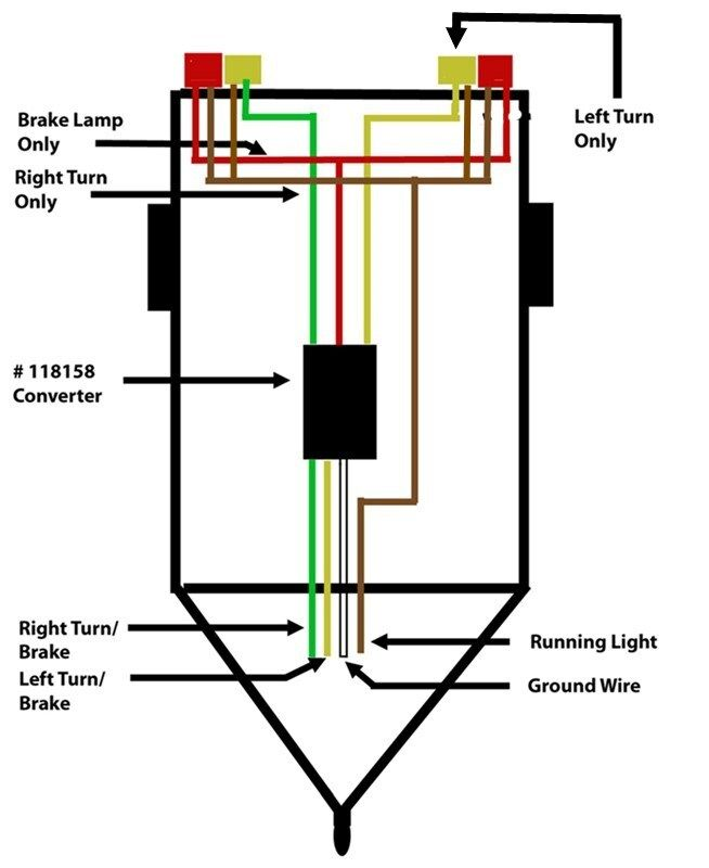 Wiring A Trailer So That Turn Signal And Brake Signal Are Separated Etrailer Com Trailer Wiring Diagram Trailer Light Wiring Led Trailer Lights