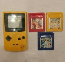 Pokemon Red Blue Yellow w/ YELLOW Gameboy Color GO! Pikachu Charizard Blastoise!  get it http://ift.tt/2bZrB0N pokemon pokemon go ash pikachu squirtle