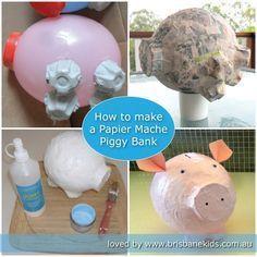 Papier Mache Piggy Bank