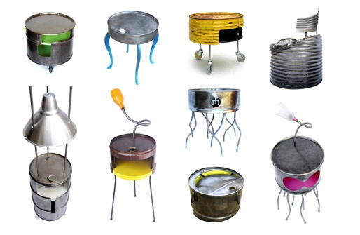 Awesome furniture created from old oil drums - these were made by Francois Royer.