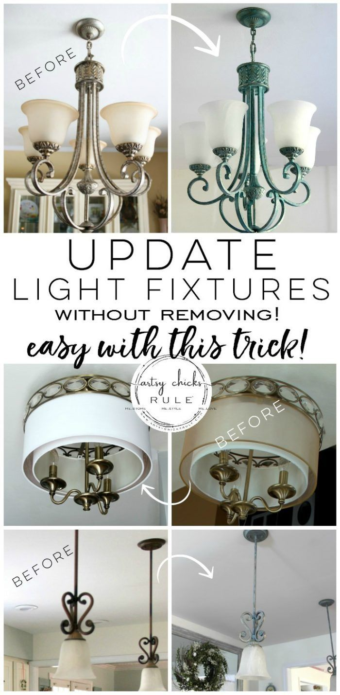 How To Paint Light Fixtures Update Without Taking Them Down