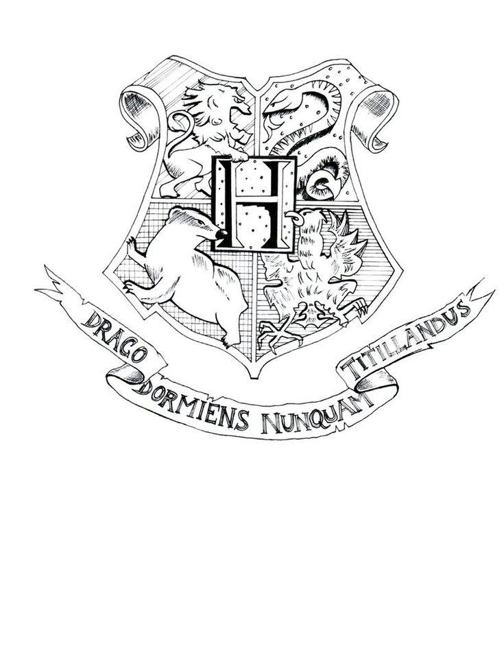 Hogwarts Castle Coloring Page Hogwarts crest coloring page ...