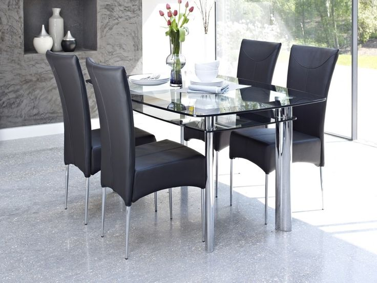 Schön Kitchen: Pleasing Glass Dining Table Set Modern Also Macyu0027s Glass Dining  Table Set From Modern