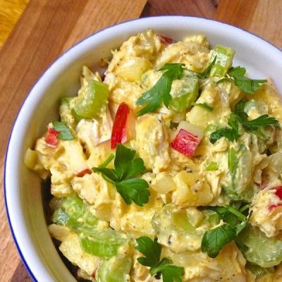 Curried Chicken Salad with Apples. via @The Lemon Bowl | Liz Della Croce