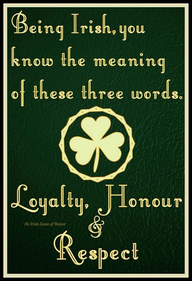 Being Irish!