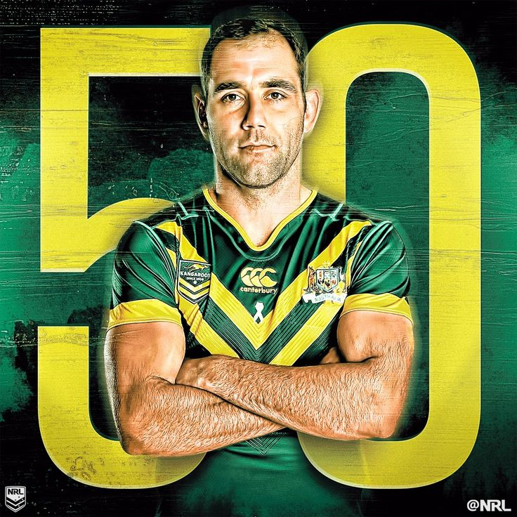 Cameron Smith has become just the second Australian Kangaroos player to appear in 50 Test matches!  Only Darren Lockyer, with 59, has played more. #RoosKiwis #NRL