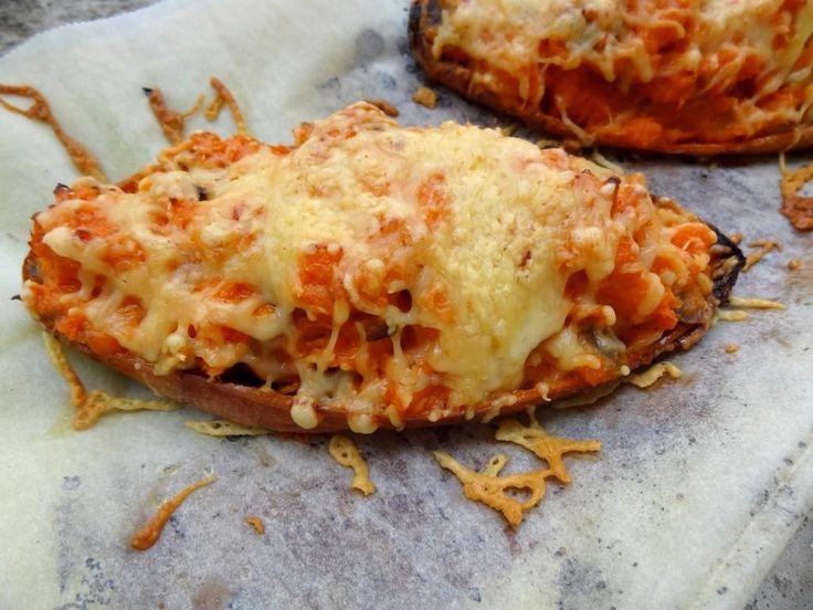 Patate douce farcie aux champignons