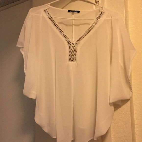Cute White Dressy Top Cute White Dressy Top. Only worn once.                                                       *100% Polyester Tops Blouses