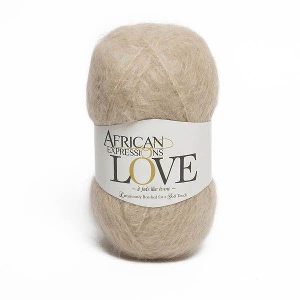 Colour Love Light tan, Chunky weight,  African expressions 3029, knitting yarn, knitting wool, crochet yarn, kid mohair yarn, merino wool, natural fibres yarn.