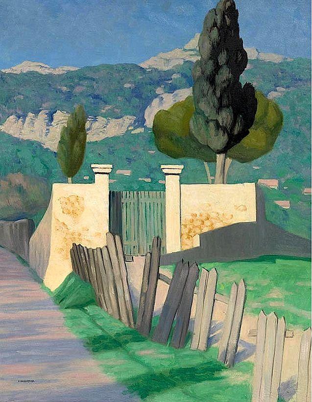 Felix Vallotton - (Lausanne 1865 - 1925 Paris) Route de Sainte-Anne et le Faron. 1925