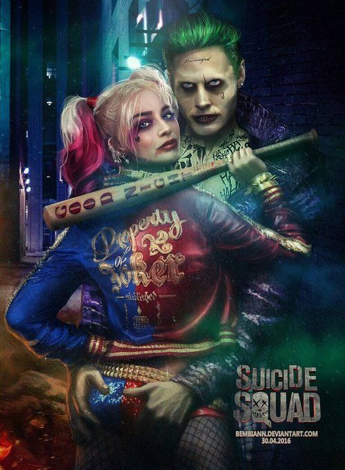 Imagem de harley quinn, the joker, and margot robbie