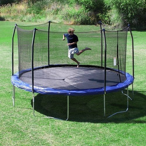 First Big Trampoline For Adults Active Kids Personal Safety Enclosure For Sale #Skywalker