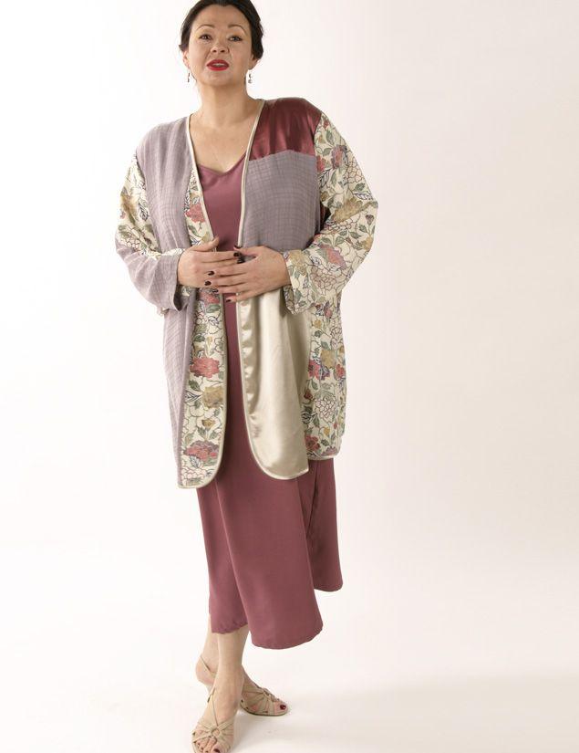 b1e357c3f36 Special Occasion Kimono Jacket Artwear Rose Lavender Ivory 26 28 SHOP NOW  Unique  jackets