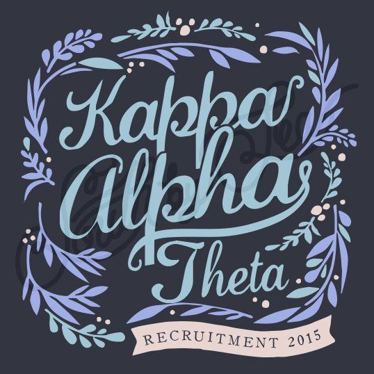 Sorority Recruitment Kappa Alpha Theta Floral Banner Border South By Sea