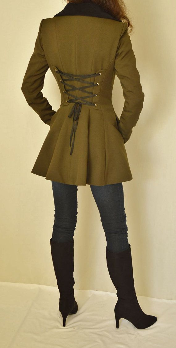 Victorian Edwardian Steampunk Style Coat Jacket, Riding Jacket, CUSTOM ORDERS ONLY by twinBdesigns | Smoked Glass Goggles