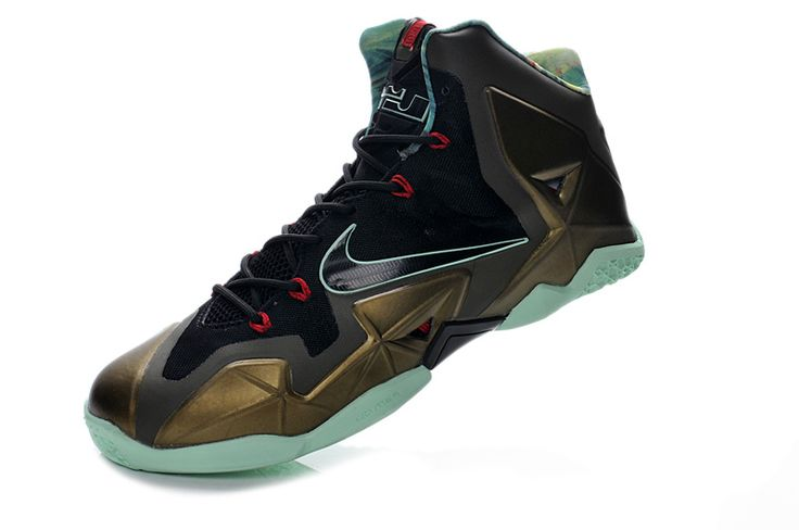Nike Lebron 11 2013 Black Bronze Jade Running Shoes, cheap Nike Lebron If  you want to look Nike Lebron 11 2013 Black Bronze Jade Running Shoes, ...