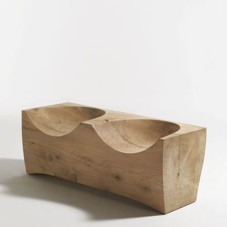 theydesign:  Log2 wooden bench by Riva.