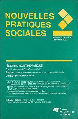 Revue Nouvelles pratiques sociales vol 12 # 2: Amazon.ca: Collectif: Books