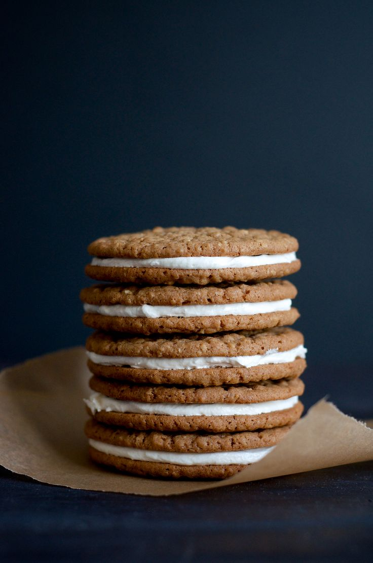 A homemade version of a vending machine treat... Oatmeal Cream Pies!